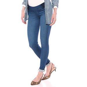 Malibu Blue Maternity Under-belly Expansión Jeans